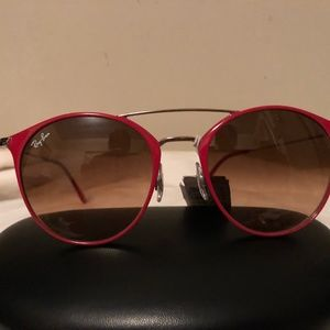 Ray-ban Red Round Sunglasses NWT 3546